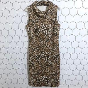 J. McLaughlin Leopard Sleeveless Dress